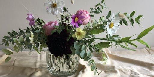 Low Vase Flower Arranging with Florette