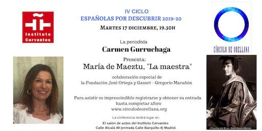 María de Maeztu por Carmen Gurruchaga.