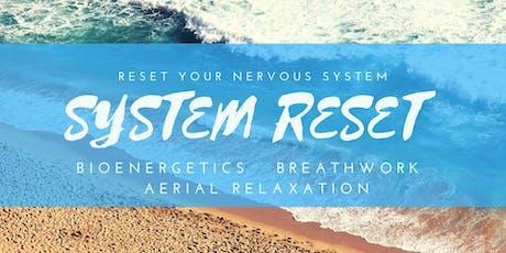 SYSTEM RESET - Bioenergetics, Breathwork & Aerial Relaxation Pods tickets