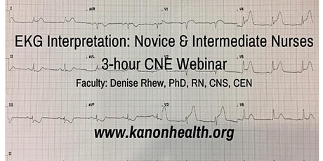 EKG Interpretation for Nurses Webinar tickets