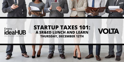 Startup Taxes 101: SR&ED Lunch and Learn