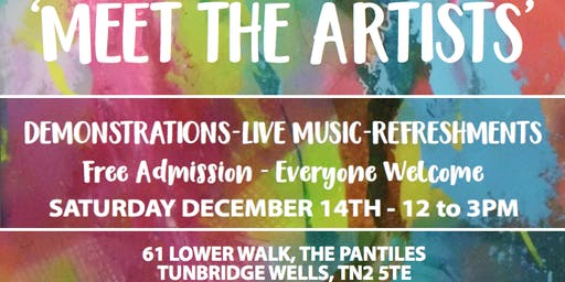 Meet the Artists: Live art demonstrations, music and refreshments