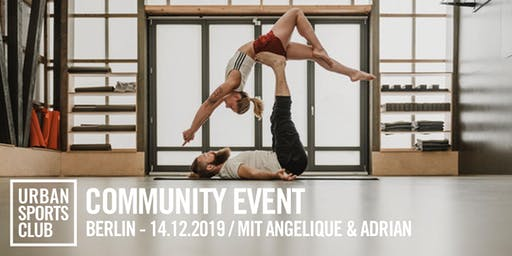 Weihnachtliches Acro Yoga mit Angelique & Adrian
