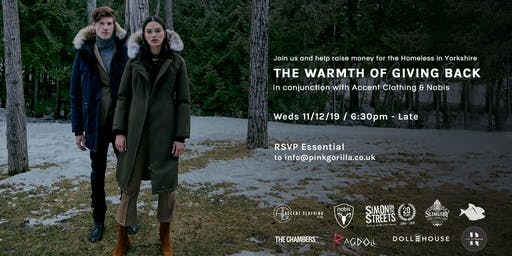 Accent Clothing x Nobis - The Warmth of Giving Back Charity Event