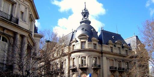 Atardecer entre los Palacios de  la Avenida Alvear y un café con Borges