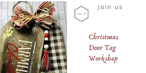 Christmas Door Tag Workshop