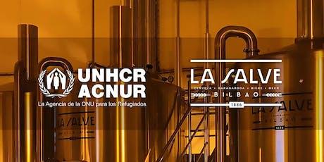 Evento de colaboración con ACNUR en la fábrica de cervezas LA SALVE entradas