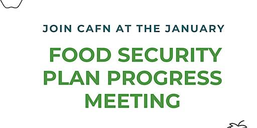 CAFN Food Security Plan Progress Meeting