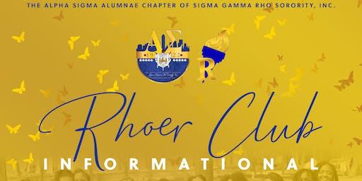 Alpha Sigma Rhoer Club Informational