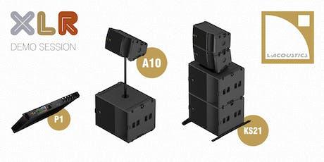 Demo-sessie (voormiddag)   L-Acoustics A10 systeem met KS21 & P1 tickets