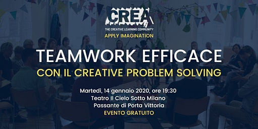 TEAMWORK EFFICACE CON IL CREATIVE PROBLEM SOLVING