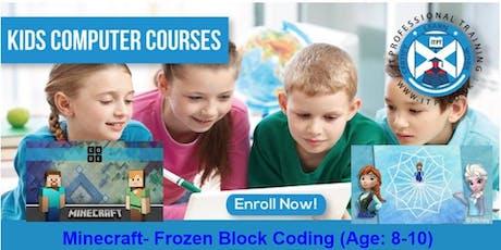 Minecraft- Frozen Block Coding (Age: 8-10) @Edinburgh tickets