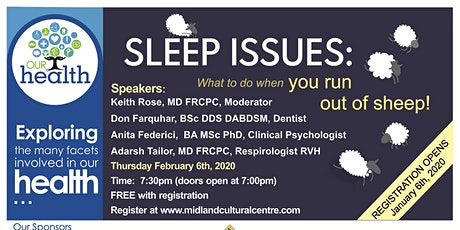 Our Health: Sleep Issues (What To Do When You Run Out Of Sheep!) tickets