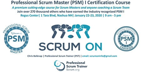Scrum.org Professional Scrum Master (PSM) I - Nashua NH - Jan 22-23, 2020 tickets