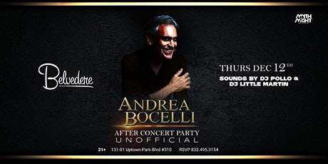 Andrea Bocelli After Concert Party tickets