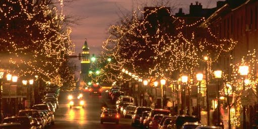 Holiday Lights and Guided Tour of Old Town, Virginia with Nightlife Exp.