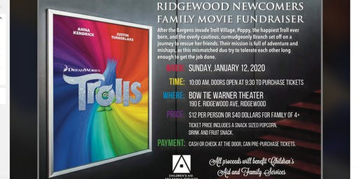 Ridgewood Newcomers Family Movie Event