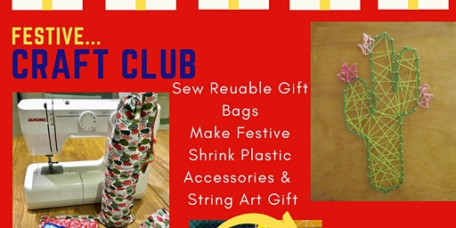 Christmas Holiday Craft Club for 7-12 year olds