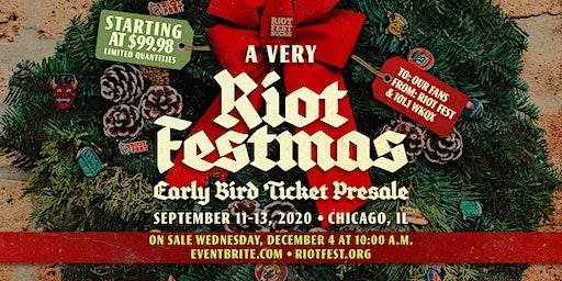 Riot Fest 2020 | Early Bird Presale