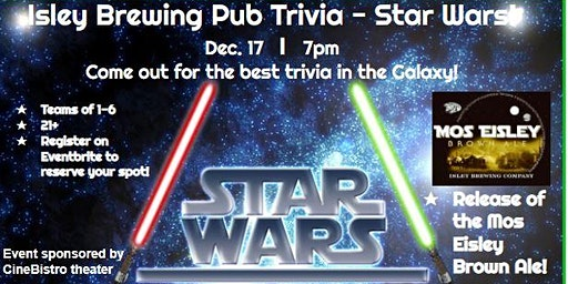 Star Wars Trivia @ Isley Brewing Company