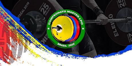 Campeonato Master de Levantamento de Peso Brasil 2020 ingressos