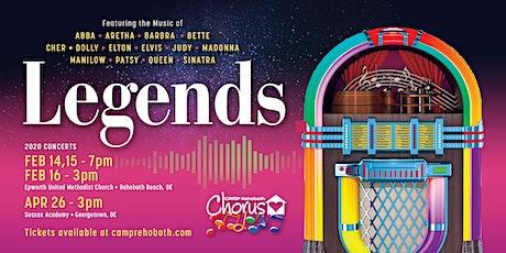 "CAMP Rehoboth Chorus - ""Legends"" Concert! tickets"
