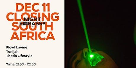 Night Embassy Closing - South Africa: Mzanzi To Berlin tickets