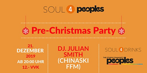 SOUL4PEOPLES-Pre Christmas Party