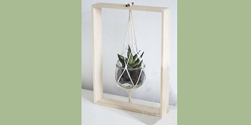 Hanging Succulent on a Frame: Sip and Craft at Magnanini Winery!!!!