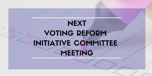 Voting Reform Initiative Committee January Meeting