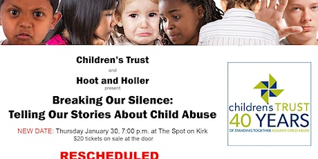 Breaking Our Silence: Telling Our Stories About Child Abuse tickets