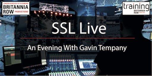 SSL Presents - An evening with Gavin Tempany
