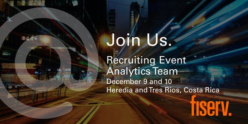 Fiserv Recruiting Event - Analytics Team