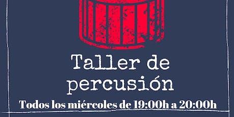 Clases gratuitas de percusión y batería. Todos los miércoles de 19h a 20h. entradas