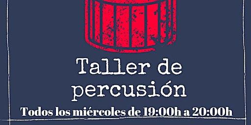 Clases gratuitas de percusión y batería. Todos los miércoles de 19h a 20h.