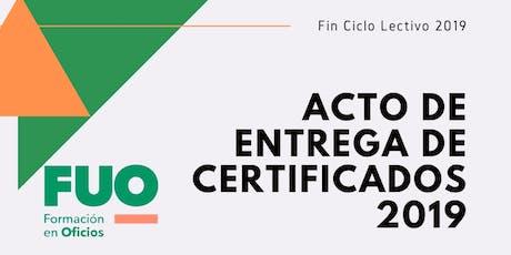 Entrega de Certificados 2019 entradas