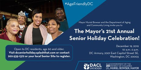 Mayor Muriel Bowser's 21st Annual Senior Holiday Celebration tickets