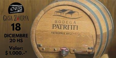 Degustación Bodega Patritti en Casa Zuviria entradas