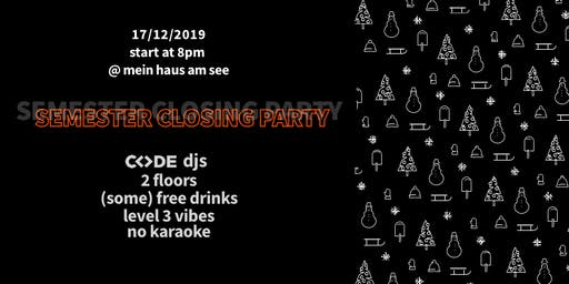 CODE - Semester Closing Party // 2019