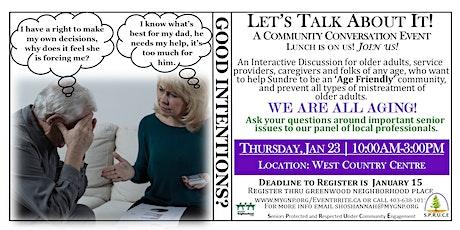 Let's Talk About It! #2 Community Conversation Event  tickets