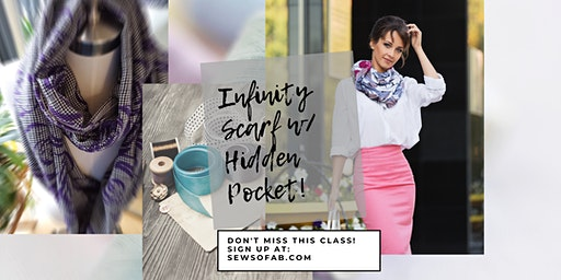 Sew So Fab Pop Up: Infinity Scarf with secret pocket