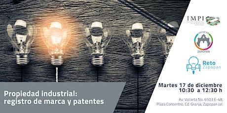 Propiedad Intelectual: Registro de marcas y patentes  tickets