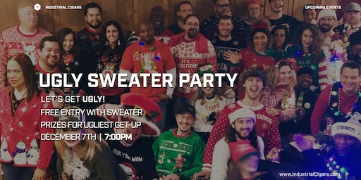 Ugly Sweater Party at Industrial Cigar Co.