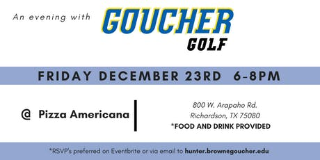 An Evening with Goucher Golf tickets