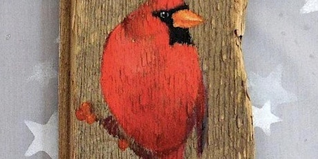 $20 Red Cardinal Rustic Wood  Paint Night @ Pedro's in Lewiston tickets