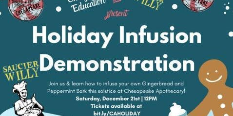 Chesapeake Apothecary Presents: Holiday Infusion Demonstration