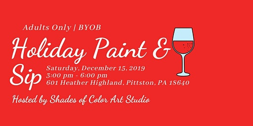 Holiday Paint & Sip