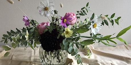 Spring inspired low vase arranging workshop tickets