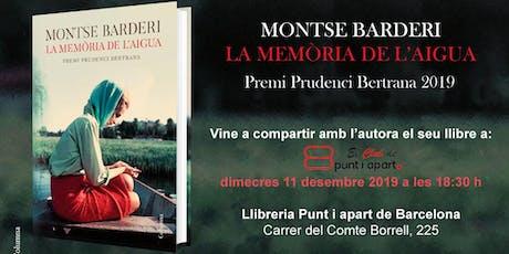 La memòria de l'aigua, amb la seva autora Montse Barderi entradas
