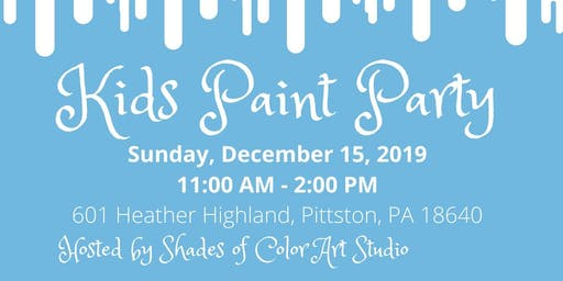 Frozen Kids Paint Party